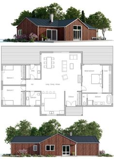 small-houses-plans-for-affordable-home-construction-19 - 25 Impressive Small House Plans for Affordable Home Construction