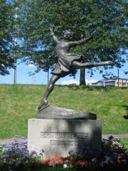 Statue of Sonja Henie in Norway