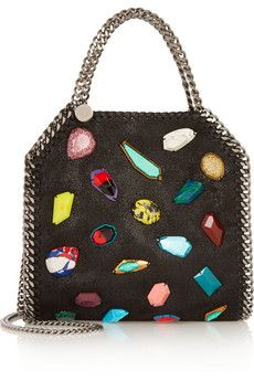 4b3b4dfc46d Stella McCartney - The Falabella mini embellished faux brushed-leather  shoulder bag