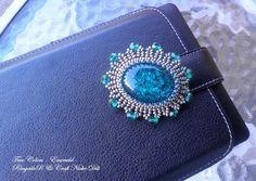 Original handmade bead embroidered brooch  True by CraftNicheDili