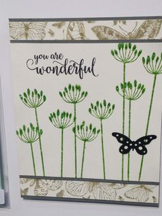 dandelion and butterfly you are wonderful card by Penny Black
