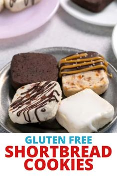 This versatile recipe for gluten free shortbread cookie mix is ideal for making 5 flavor varieties that each taste completely distinct. One recipe can make a beautiful cookie plate all on its own! Best Gluten Free Recipes, Gluten Free Sweets, Gluten Free Cakes, Vegan Recipes, Gluten Free Crust, Gluten Free Brownies, Holiday Desserts, Fun Desserts, Easy Cake Recipes