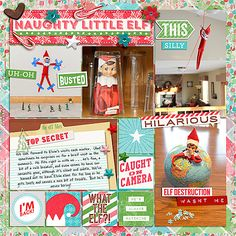 Real Life in Pockets: Shelf Elf by Just Jaimee and Mommyish; Gesso Bits by Just Jaimee; Templates: Storyteller February 2014 Bundle by Just Jaimee; Style: Christmas Foil Photoshop Styles by Just Jaimee; Font: DJB PROJECT STORYTELLER by Darcy Baldwin