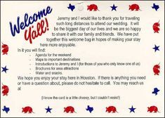 wedding welcome bags for out of town guests | View our Wedding Newsletter.