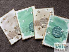 Aquarell-Weihnachtskarten erstellt mit den Produkten von Stampin' Up