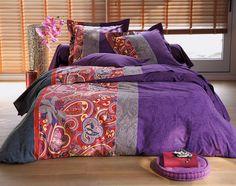 linge de lit motif cachemire | becquet