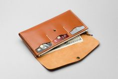 Personalized name Leather Zipper Pouch / Phone Wallet Custom