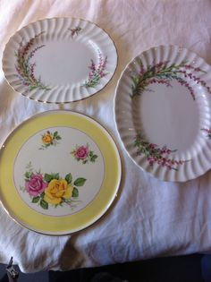 Plates ready for anything # vintage china #wedding