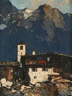 Gemälde Oskar Mulley1891 Klagenfurt - 1949 Garmisch Landschaftsmaler, studierte an d. Wiener Akad.