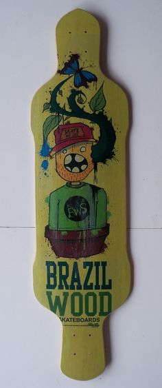 Shape Skate Long Brazil Wood 39,5 - R$ 127,00 no MercadoLivre