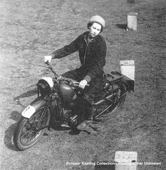Queen Elizabeth 1941. Picture shared from a Royal Family Fan friend of mine in Seattle. BSA 250.