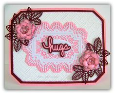 Ann Greenspan's Crafts: Pink and Burgundy Hugs