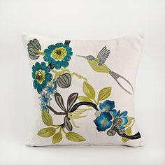 Hummingbird Toss Pillow