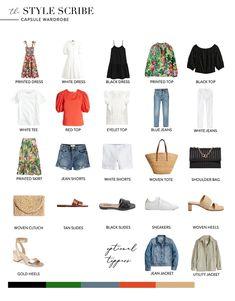 Miami Outfits, Capsule Outfits, Fashion Capsule, Summer Fashion Outfits, Spring Summer Fashion, Women's Fashion, Summer Minimalist, Minimalist Fashion, Minimalist Wardrobe