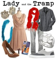 Outfits inspired by Lady and the Tramp!