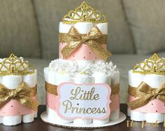 Princess Diaper Cake Baby Shower Decoration Centerpiece Gift