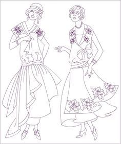 Free Coloring Pages: Vintage Fashion * coloring page