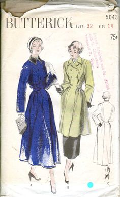 40's Vintage Sewing Pattern Tailored Double by retromonkeys, $35.00 ~ perfect Trenchcoat
