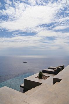 This summer dream house is infused with rustic and modern styling by architects sited on Syros, a Greek island in the Cyclades, in the Aegean Sea. Hotel Am Meer, Syros Greece, Summer Dream, Greek Islands, Airplane View, Beautiful Places, Beautiful Ocean, Places To Visit, Around The Worlds
