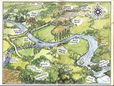 Map from the front cover of the Wind in the Willows