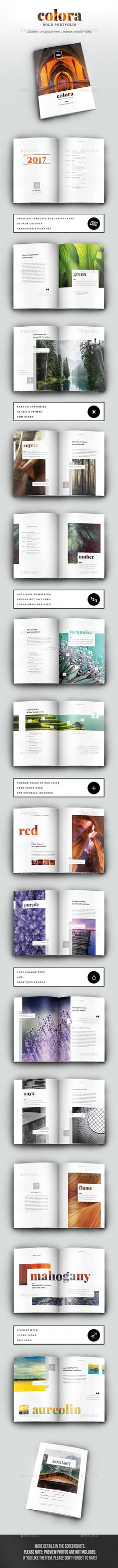 Colora - Bold, Clean Portfolio Brochure Template InDesign INDD