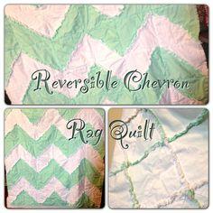 Rag Quilt Chevron Reversible by avisiontoremember