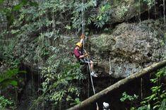 Altournative Mayan adventure tour  Riviera Maya, Mexico-rapel, zipline, kayak, hike, cenote, bike to Coba ruins, and Mayan village in 1 day!
