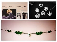 DIY Nightmare Before Christmas Garland Room Decor - YouTube