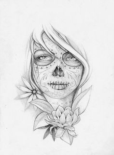 """sugar skull tattoo. I want the quote """"Death is but the next great adventure"""" sugar skulls are a positive outlook towards death"""