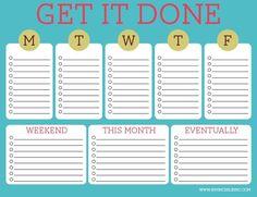 Weekly to do list invincibleinc.com