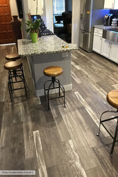 Armstrong Architectural Remnants Woodland Reclaim Old Original Barn Gray Laminate Flooring (reclaimed barn wood laundry rooms) Flooring, Kitchen Flooring, Laminate Flooring, House Flooring, Refinishing Floors, Mediterranean Home Decor, Living Room Flooring, Basement Flooring, Tuscan Kitchen