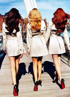 Toda mulher tem, uma amiga loira, uma morena e uma ruiva...