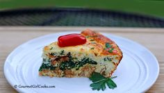 Gourmet Girl Cooks: Italian Style Sausage & Spinach Pie - Low Carb
