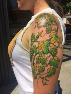Image result for leaves tattoo green