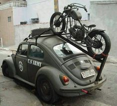 "doyoulikevintage: ""VW beetle military """