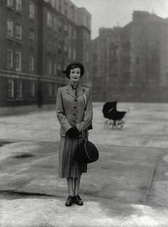 Wenda Parkinson, 1948, photo by her husband Norman Parkinson