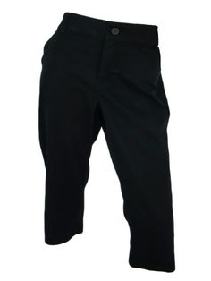 Dockers Womens Capri Pants 6 Black Cropped Sure Fit Stretch Happy Curves NEW #DOCKERS #CaprisCropped