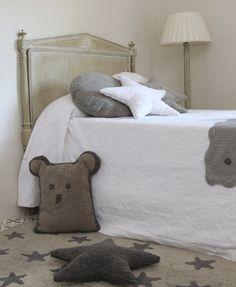 Washable rug Linen Stars Grey/Alfombra lavable Linen Stars Grey