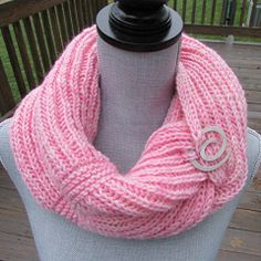 Pink Mulnomah Falls infinity loop wrapped twice. Christmas gift for Shannon 2014