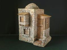 casa Christmas Crib Ideas, Christmas Tree, Creative Crafts, Cribs, Dior, Miniatures, Stamp, Architecture, Outdoor Decor
