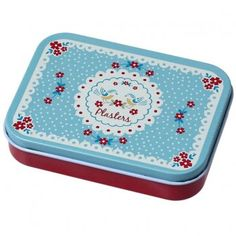 Vintage Doily Floral Plasters in a Tin