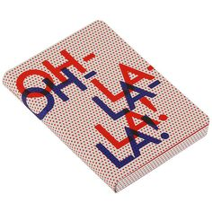 """Nuuna """"Oh La La"""" Leather Notebook - Red/Blue ($28) ❤ liked on Polyvore featuring home, home decor, stationery and red"""