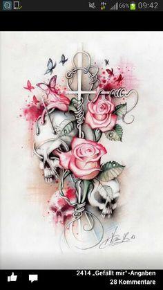 #rose #kreuz #red