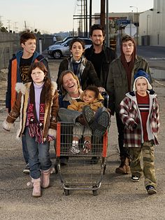 Shameless. Amazing show! Got hooked on the second season and am waiting for season one to be sent to me!