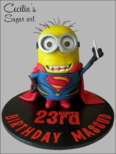 This Superman Minion Makes For An Adorable Cake