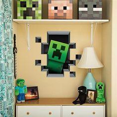 Minecraft Reusable Giant Wall Decals Stickers por Lucaswallsticker