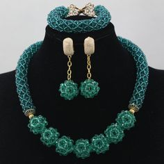 Teal Green Beads Jewelry Whatsapp:008613691301343