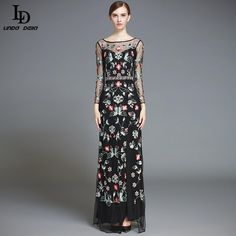 Women's Sexy Split Voile Floral Flower Embroidered Long Dress $90.08 => Save up to 60% and Free Shipping => Order Now! #fashion #woman #shop #diy http://www.clothesdeals.net/product/ld-linda-della-runway-designer-maxi-dress-womens-high-quality-sexy-split-voile-floral-flower-embroidered-long-dress
