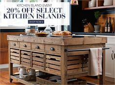 Shop Kitchen Island Event