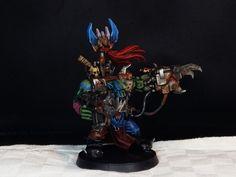 Warhammer 40.000 Ork Warboss miniature painted by me! Sirio ;)